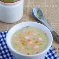 小米虾滑粥