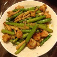 虾仁芦笋炒蟹味菇