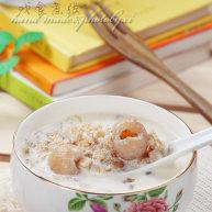 奶香桂圆麦片粥