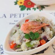 北极虾黑椒口蘑炖饭