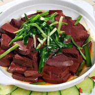 韭菜炒猪血