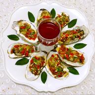蒜蓉彩椒烤牡蛎