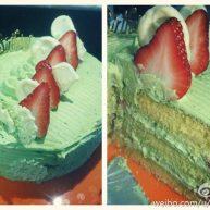 草莓抹茶奶油蛋糕中抹茶奶油的做法