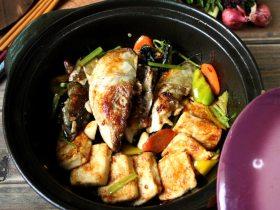 紫苏鱼头豆腐煲