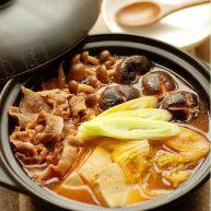 韩式鲜菌辣肥牛汤锅