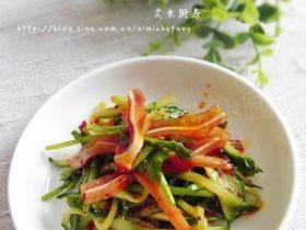 红油黄瓜拌饵丝
