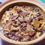 锅仔烧汁蘑菇