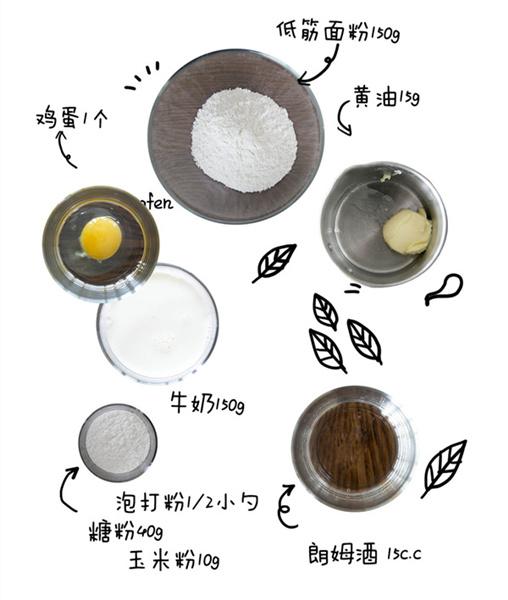原味美式松饼的做法和步骤第1张图