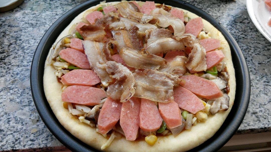 田园烤肉披萨的做法和步骤第5张图