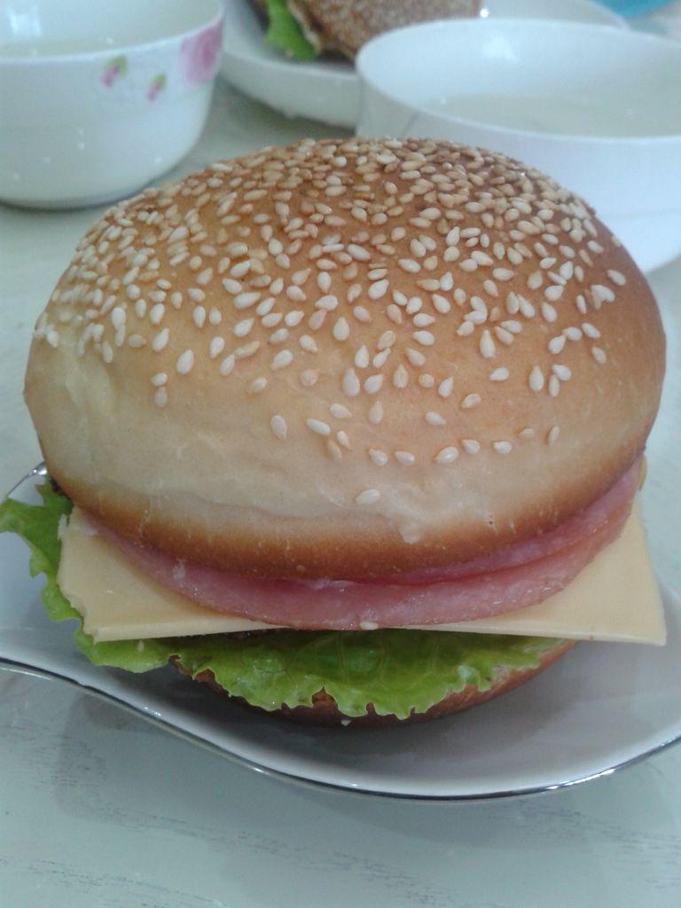 汉堡胚及健康汉堡的做法和步骤第11张图