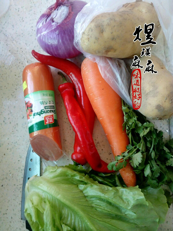 土豆絲卷餅的做法和步驟第1張圖