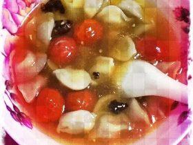 圣女果水饺汤