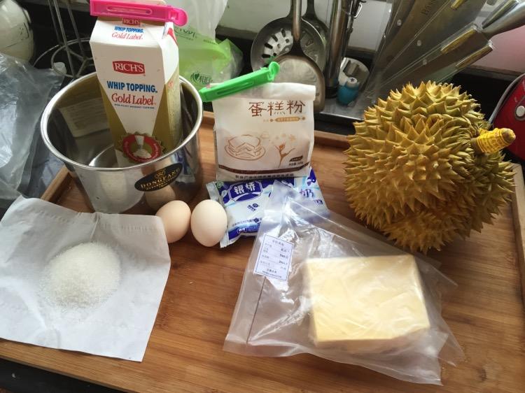 榴莲千层蛋糕的做法和步骤第1张图