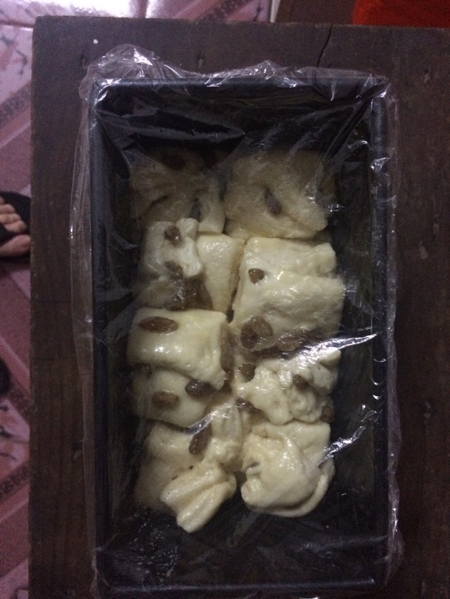 炼乳葡萄干吐司的做法和步骤第14张图