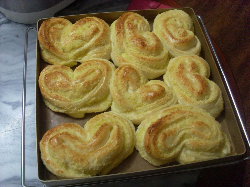 椰蓉心形面包的做法和步骤第18张图