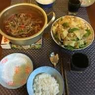 松燕尖椒干豆腐+松燕韩式辣牛肉汤