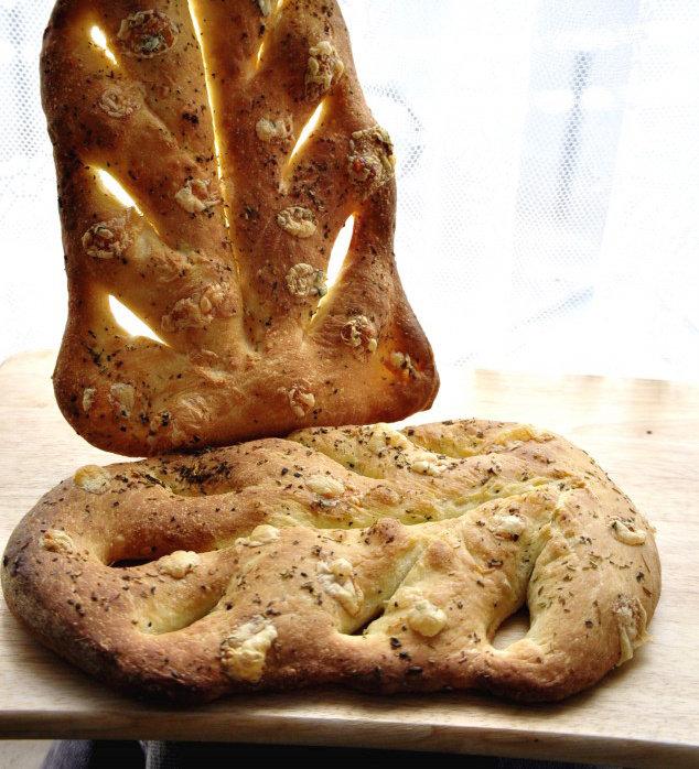 法式面包Fougasse 香油蓝乳酪版