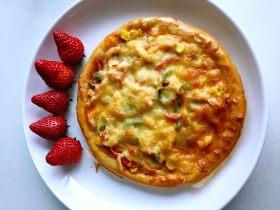 鲜虾蘑菇披萨