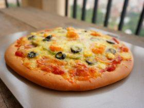 黑橄榄培根虾仁披萨