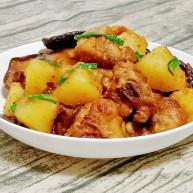 土豆香菇焖鸡