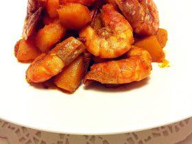 南瓜烧草虾