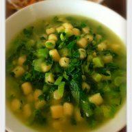 青菜煮鲜玉米圆子