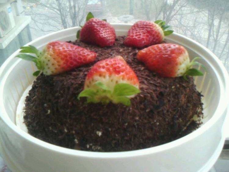 蛋糕 黑森林/黑森林草莓蛋糕