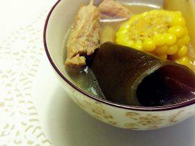 昆布(海带)玉米排骨汤