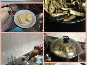 东北菜:土豆茄子炖肉