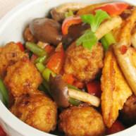 麻辣豆腐虾丸钵