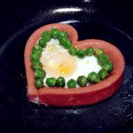情人节爱心煎蛋