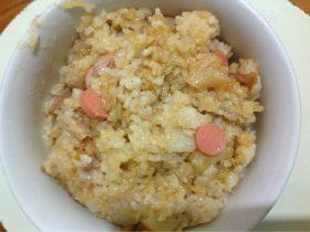 腊肉土豆火腿饭
