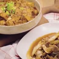 葱爆羊肉&麻婆豆腐