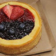 烤蓝莓重芝士蛋糕
