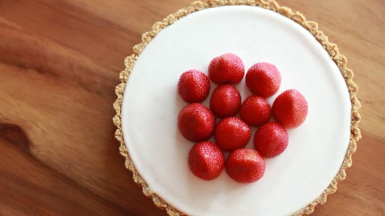 免焗草莓芝士派