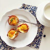 小芽早餐-培根鸡蛋彩蔬玛芬