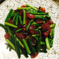 💓蒜苔炒广式香肠💓