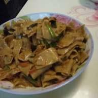 腌肉辣炒荞麦面面片
