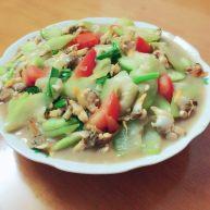 花甲螺肉炒葫芦瓜