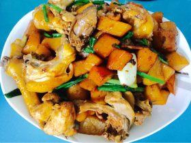 鸡肉炒土豆苹果