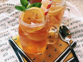 「蜜桃的夏天」——桃子冰茶&蜜桃苏打柠檬水
