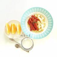 番茄鳕鱼小米饭—浓浓营养汤汁浇在米饭上