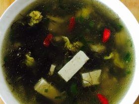 发菜豆腐蛋花汤