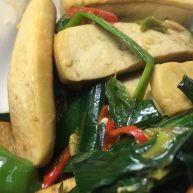 蒜苗炒豆腐干