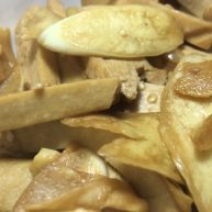 茭白炒豆腐干