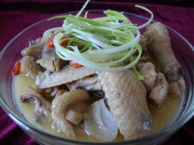 海南印象:椰奶文昌鸡