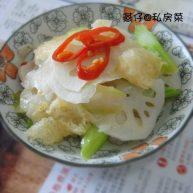 素炒藕片猪皮