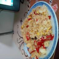 鸡蛋熏肉炒饭