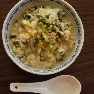 肉末番杏鸡蛋粥——电饭锅煲粥好轻松!