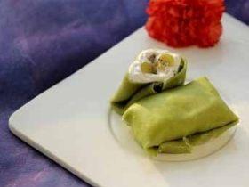 经典港式甜品---猕猴桃绿茶班戟